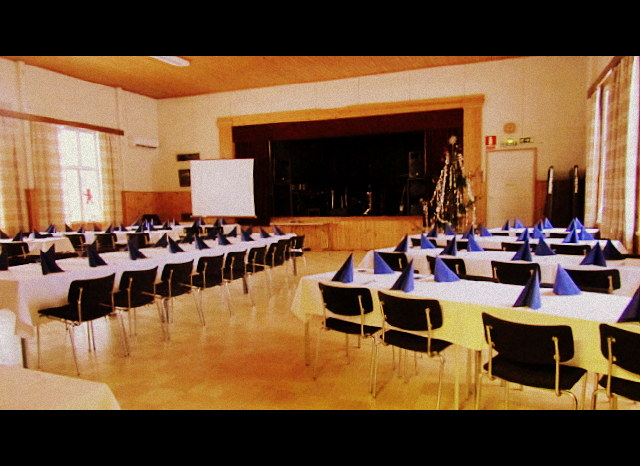 Otalammen työväentalon saliin mahtuu jopa 180 henkilöä.